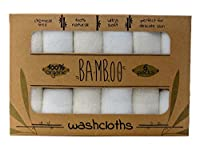 "Bamboo Baby Washcloths (6 pack) Super Soft Baby Bath Washcloths, 100% Natural Bamboo Washcloths, No Harmful Dyes, Perfect for Sensitive Baby Skin, Excellent Baby Shower Gift, 6 Pack 10""x10"" from Bamboo Baby"