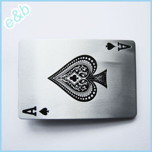 Best Prices! Brand:e&b Casino Ace Spade Poker Card Belt Buckle Cs-013