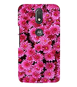 Pink Flowers 3D Hard Polycarbonate Designer Back Case Cover for Motorola Moto G4 Plus :: Moto G4+
