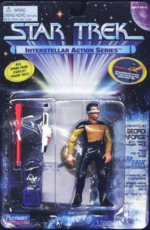 Lieutenant (J.G.) Geordi LaForge Action Figure with Firing Phaser Rifle - Star Trek: The Next Generation - Interstellar Action Series