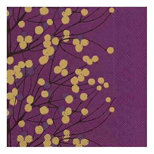 marimekko-lumimarja-etui-a-rabat-pour-finlandais-violet-fonce-lot-de-20-serviettes-de-table-papier-t