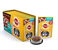 Pedigree Adult Chicken & Liver Chunks Gravy Pouches (Pack of 15)