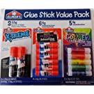Elmer's Glue Stick Value Pack - Xtreme, School Washable Disappearing and Colored Glue Sticks