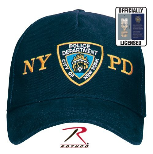 8272Navy Blue Officially Licensed NYPD Adjustable Shield Cap w/NYPD Logo