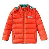 (ハイハート)Hiheart キッズ アウター ボーイズ ダウンジャケット ジュニア アウトドア 撥水加工 男の子 防寒コート オレンジ 120cm