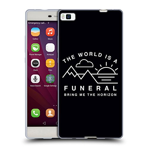 Ufficiale Bring Me The Horizon The World is a Funeral Arte Chiave Cover Morbida In Gel Per Huawei P8