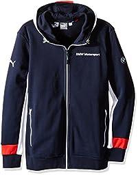 PUMA Men\'s BMW MSP Hooded Sweat Jacket, Team Blue, Large