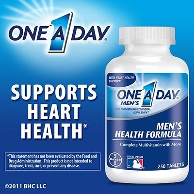 все цены на One A Day Men's Health Formula, 250 Tablets онлайн