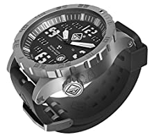 buy Heavy Water Diver(Tm) Titanium Tritium Dive-Watch By Hazard 4(R): Bead-Blasted, Blk Dial/Wht Graphics - Ggyg