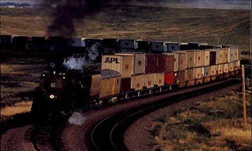 Steam-Locomotive-3985-Trains-Railroad-Original-Vintage-Postcard