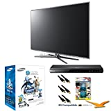 Samsung UN55D7000 55-Inch 1080p 240Hz 3D LED HDTV (Silver) 3D Bundle with UN55D7000, BDD5500 3D Blu Ray Player, SSG-P3100M 3D Starter Kit, Xtreme 6 ft 1.4v HDMI Cables (x3), and TV Screen Cleaning Solution