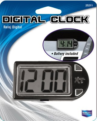 Custom Accessories 25211 Digital Clock, Stand/Mount,