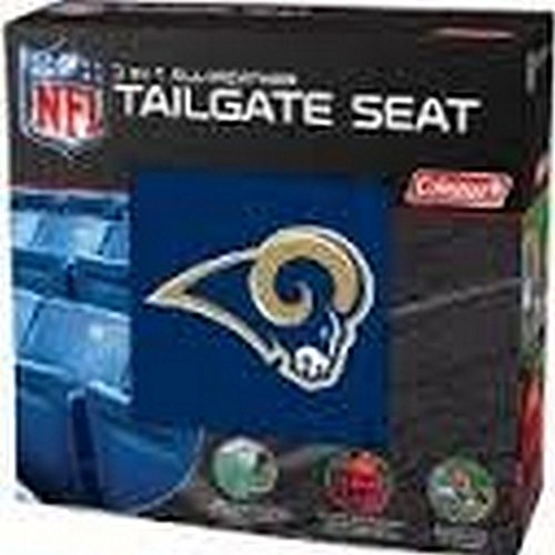 NFL Licensed 3 in 1 Tailgate Seat Poncho and Seat Cushion Set (St. Louis Rams) (Coleman Bleacher Seats With Backs compare prices)