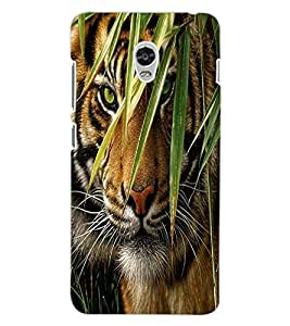 ColourCraft Tiger Look Design Back Case Cover for LENOVO VIBE P1