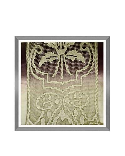 Aviva Stanoff Ombre Blossom Stitchwork Hand-Pressed on Oxblood Velvet Artwork