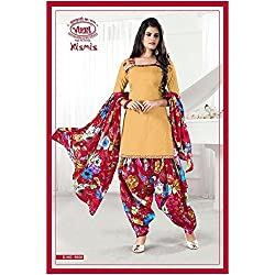 Vivel Women's Unstitched Cotton dress material (SS_10_Pack of 1_Large)