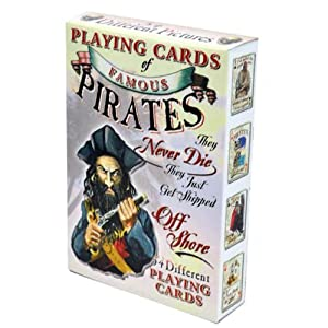 Famous Pirates Playing Cards - Deck of 54 Cards