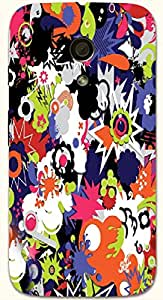 Outstanding multicolor printed protective REBEL mobile back cover for Motorola Moto G (2014) 1st Gen D.No.N-T-5344-MG1