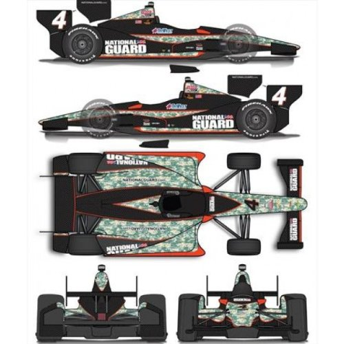 Greenlight 1:18 Jr Hildebrand #4 Panther Racing National Guard Indy Car (Indycar Model compare prices)