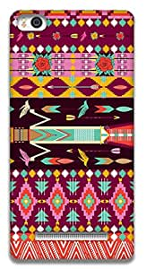 The Racoon Lean printed designer hard back mobile phone case cover for Xiaomi Mi4i. (Pink Aztec)