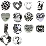 Timeline Trinketts Starter Charm Bracelet Spacer Beads Fits Pandora Style Jewelry FREE Bead Happy Hearts