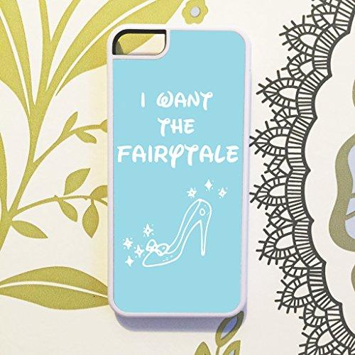 Oliva & Maybelle Fairytale Pantofole Blu Scarpe Disney Cenerentola, Cover per iPhone 5C, Bianco