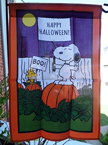 Peanuts Snoopy (Happy Halloween / BOO!) One Sided Garden Decorative Flag 12