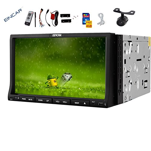 "Latest Android system with 1GHz CPU!HD Capacitive multi-touchscreen Car GPS DVD Player 7"" 2 din Car Stereo in-dash Bluetooth Car Radio Video Player SAT NAV GPS Car CD Player with WiFi iPod Camera"