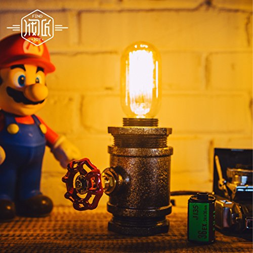"Y-Nut Loft Style Lamp, ""Watchman"", Steam Punk Industrial, Night Lamp, Table Desk Light, LL-002 1"