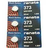 FOSSIL Watches:#373 Renata Watch Batteries 3Pcs