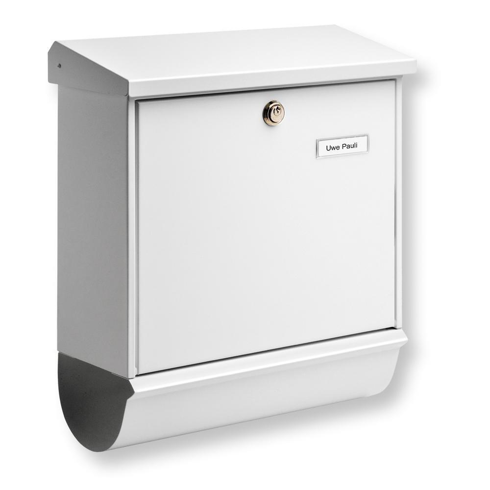 BurgWächter Postkasten, Briefkasten aus Stahlblech Set Comfort 91300 W inkl. Zeitungsbox, in weiß, ca. 38 cm x 14,8 cm x 44 cm   Kundenberichte und weitere Informationen