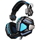 Kotion Each G5200 7.1 Channel USB Over Ear Gaming Headphones For PC With Vibration (Black/Blue)