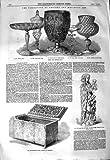 1850 ROMAN VENETIAN GLASS STEEL CASKET ANCIENT ART