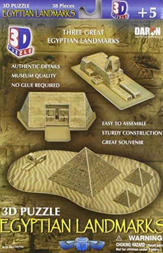 Daron Egyptian Pyramids 3D Puzzle, 38-Piece