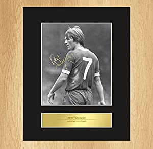 Kenny Dalglish Signed Mounted Photo Display Liverpool Legend