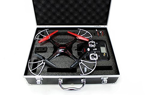 Syma X5C quadcopter drone black bundle with Carrying case