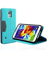 Bingsale Etui PU véritable pour Samsung Galaxy S5 Coque housse bleu