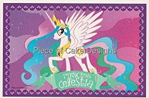 1/4 Sheet ~ My Little Pony Princess Celestia ~ Edible Image Cake/Cupcake Topper!!!