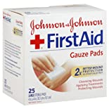 Johnson & Johnson First Aid Gauze Pads, Large Sterile, 25 ct.