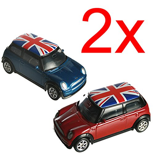 2-x-mini-cooper-union-jack-model-toy-car-kids-gift-set-metal-die-cast-xmas-new