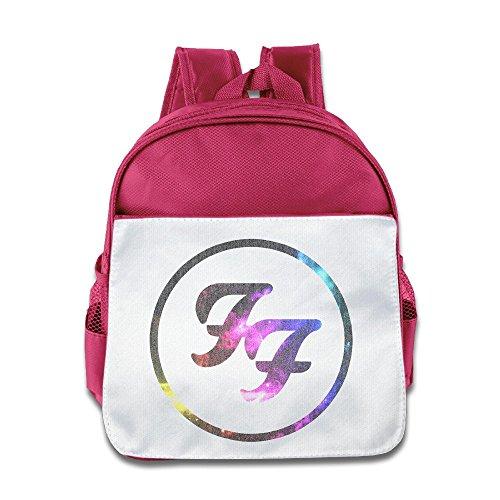 Jade Custom Superb Rock Band Logo Kids Children School Bagpack Bag For 1-6 Years Old Pink