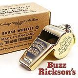 (バズリクソンズ)BUZZ RICKSON'S ホイッスル 笛 ミリタリー ブラス イギリス・ アクメ社製 ペンダントトップ ジップチャーム アクセサリー F03624 BR02374 F ゴールド