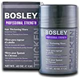 Bosley Hair Thickening Fibers Keratin Hair Fibers .42 Oz (Dark Brown - Set Of 3)