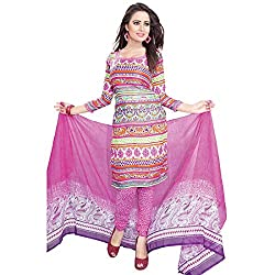 ZHot Fashion crepe Multicolor Designer Printed Salwar Suit (ZHPK1008B)