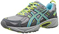 ASICS Women's Gel-Venture 5 Running Shoe, Silver Grey/Turquoise/Lime Punch, 9 D US