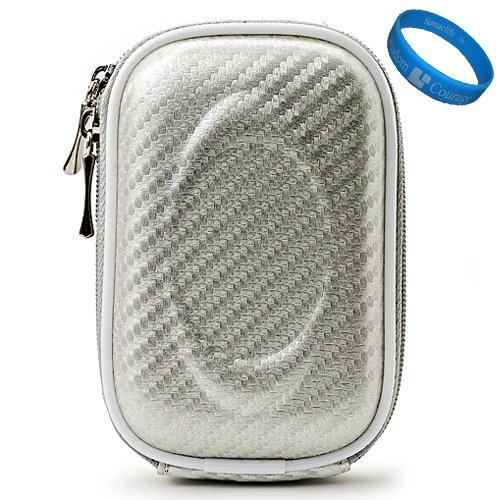 Silver Candy VG Compact Semi Hard Protective Camera Case for Samsung DV300F / MV800 / ST93 / ST90 / ST65 / ST30 / ST95 / ST700 / PL170 / PL210 / PL120 / SH100 / WB700 / PL200 / TL350 / WB2000 / AQ100 / WP10 / TL210 / PL150 / TL205 / PL100 / ST80 / ST100 /