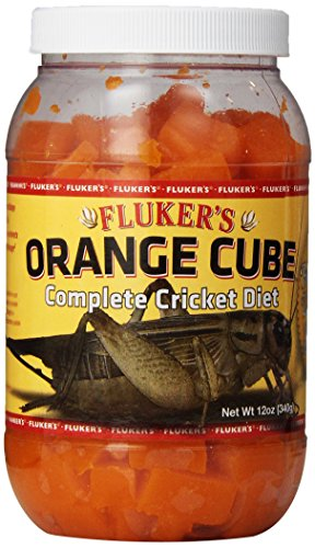 Flukers 12 Oz Orange Cube Complete Cricket Diet