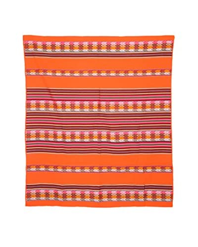 Uptown Down Found Peruvian Woven Throw, Coral/Multi As You See