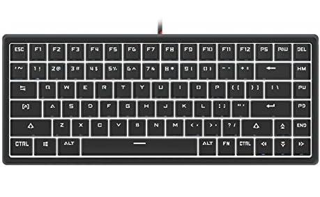 Drevo Gramr 84キー赤軸メカニカルキーボード ゲーミングキーボード 白色光 USB有線キーボード ブラック