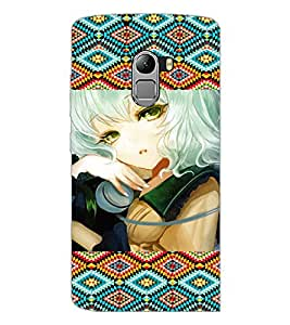 PrintDhaba Cool Girl D-5016 Back Case Cover for LENOVO K4 NOTE A7010a48 (Multi-Coloured)